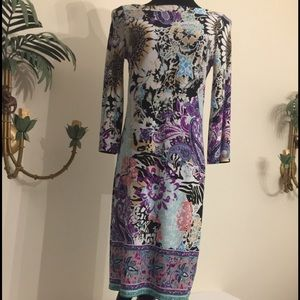 ECI Multi color pencil dress size 6